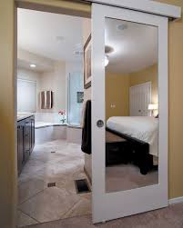 bathroom door ideas wall mounted sliding door reflects genius design idea hawaii
