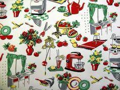 Kitchen Curtain Fabric by This Is The Main Fabric In The Apron That Started The Whole Cherry