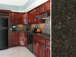 best for cherry kitchen cabinets what countertop color looks best with cherry cabinets