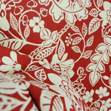 Red Drapery Fabric Waverly Garden Flurry Poppy Red Floral Fabric Traditional