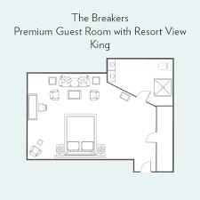 the breakers floor plan premium guest room with resort view guest rooms the breakers