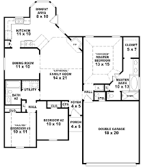 house floor plans 3 bedroom 2 bath story small one inside
