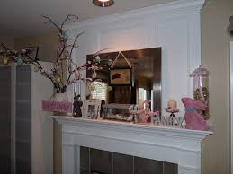 ideas happy easter with lovely easter decor on the mantel