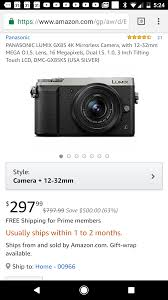 deal alert panasonic gx85 with 12 32mm for 297 99 micro four