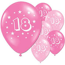 balloons for 18th birthday 20 fuschia and pink 18th birthday party balloons co uk toys