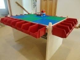 activity table with storage foter