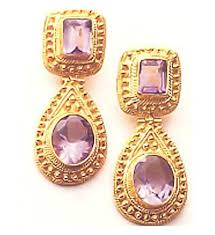malabar earrings malabar amethyst earrings museum of jewelry