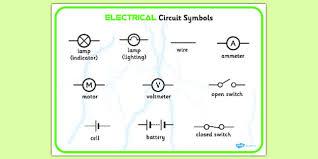 electricity circuit symbols word bank electricity circuit