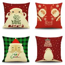 Red Decorative Pillow Christmas Red Decorative Pillows Cute Santa Cushions For Living