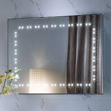 Mirror With Light Bathroom Mirrors With Lights And Demister White Wall Mounted Towel