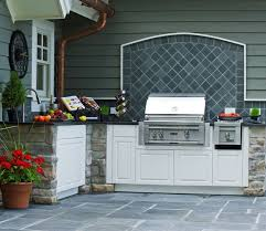 outdoor kitchen backsplash ideas cover up rear door with backsplash and grill exterior