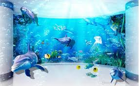classic home decor 3d dream underwater world background wall mural