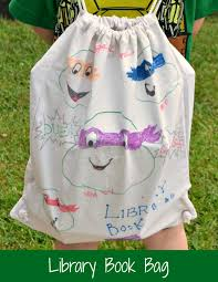 How To Decorate A Backpack With Sharpie Decorated Library Bag With Sharpie Paint Markers Paintyourway