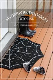 halloween doormat diy spiderweb doormat