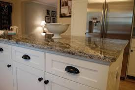 granite countertop kraftmaid kitchen cabinet blue glass