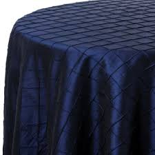 navy blue table linens royal blue pintuck print table linen rentals