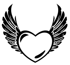 heart wings coloring pages black coloringstar