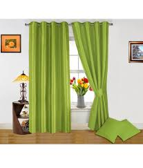 Neon Green Curtains by Dekor World Light Green Curtain And Cushion Covers Combo Pcs Solid