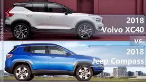 jeep volvo 2018 volvo xc40 vs 2018 jeep compass technical comparison youtube