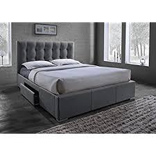 Baxton Studio Bed Amazon Com Baxton Studio Sarter Contemporary Grid Tufted Fabric