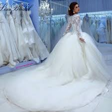 fall winter muslim long sleeve cinderella wedding dress princess
