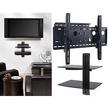 tv wall mount swing out 2xhome tv wall mount bracket double shelf package secure