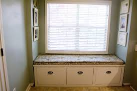bay window seat cushion with blinds home decor also simple bay