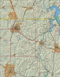 Topographical Map Of United States by Large Topographic Map Of The Tennessee River