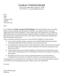 sample cover letters for employment accounting cover letter
