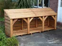 wood store 3 bay log store 280cm x 125cm fully constructed 480 00