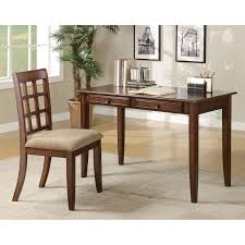 coaster furniture writing desk and slat back chair set walmart com