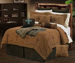 crosses bedding collection western style design