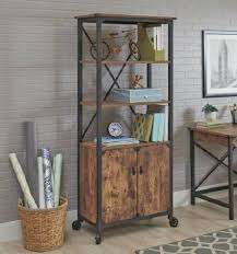 Shelves On Wheels by Bookcase With Doors Small Etagere Storage Shelves Tall Shelving On