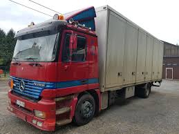 kw box truck mercedes benz actros 1831 big axel closed box trucks for sale