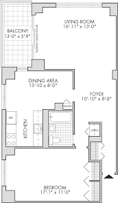 One Bedroom Apartment Floor Plans by Triple Core