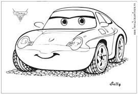 cars sally lightning mcqueen coloring pages getcoloringpages com