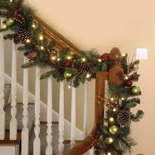christmas garland with lights outdoor christmas lights decoration