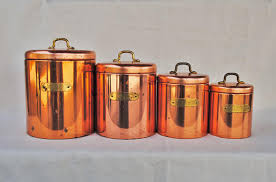copper kitchen canister sets vintage ransburg copper kitchen canister set kitchen