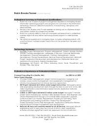 Sample Resumes For Professionals by Resume Summary Samples For It Professionals Resume Template Free