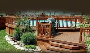round above ground pool decks plans round above ground pool deck