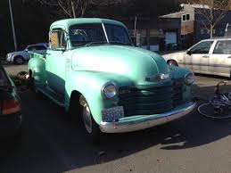 Classic Chevy Trucks Models - street parked 50s chevy pickup take two startinggrid