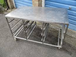 stainless steel prep table used used stainless steel tables montserrat home design decorating