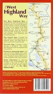 Stirling Scotland Map West Highland Way Map Guide Footprint Footprint 9781871149500