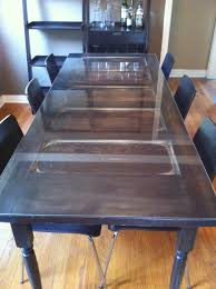 Making Dining Room Table Turning A Door Into A Dining Room Table Another Great Idea For