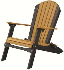 Luxcraft Outdoor Furniture by Amish Boutique Luxcraft Poly Folding Adirondack Chair