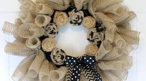 how to make a deco mesh and burlap wreath diy home tutorial