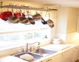 kitchen with pot rack ideas