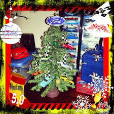 my sons ford mustang tree in his bedroom wheels