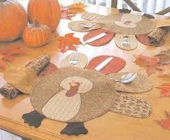 turkey placemats diy placemat ideas to make your thanksgiving table stand out