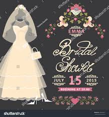vintage bridal shower bridal shower invitation card vintage wedding stock vector